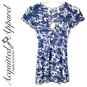 Show Me Your MuMu Blue White Ibiza Dress Paisley